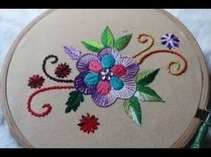 Hand Embroidery Designs   Basic design tutorial   Stitch and Flower-135 - YouTube