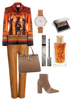 """For creative workers"" by subvilli ❤ liked on Polyvore featuring Joseph, Sigerson Morrison, Dolce&Gabbana, Burberry, Lancôme, Olivia Burton, Mary Katrantzou, WorkWear, Leather and contestentry"