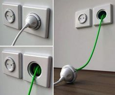 Organized cables help create attractive, neat and pleasant home interiors