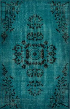 $5 Off when you share! Claude Alden Overdyed Turquoise Rug