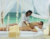 Sandals Grande Riviera Resort Spa Treatments & Services in Ocho Rios:  Experience romantic and relaxing aromatherapy massages side by side. Our expert therapists will take you and your partner on a journey of the senses enveloping you in your choice of one of our signature Red Lane scents, restoring balance and creating harmony.