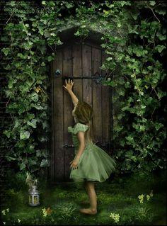Secret garden door on pinterest garden doors secret for Secret fairy doors by blingderella