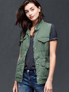 16c880961aa Tencel®utility vest in cool olive