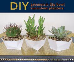 Desert Domicile: DIY Geometric Dip Bowl Succulent Planters (HoH164)