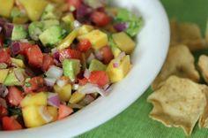 Mango Avocado Salsa with Sweet Lime Vinaigrette | 5DollarDinners.com