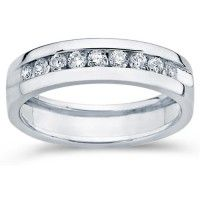 mens diamond engagement band wedding ring anniversary 14k white gold 050 cttw
