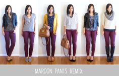 Favorites of 2013: Maroon Pants Remix This is a great idea. I never thought I could do this and since I am adding basics into my closet, this will definitely help me.