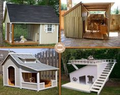 Easy and Cheap Dog Houses , - cheap dog kennel Cheap Dog Houses, Cool Dog Houses, Pet Houses, Cheap Dog Kennels, Cool Stuff, Shed Plans, House Plans, Garage Plans, Arquitetura