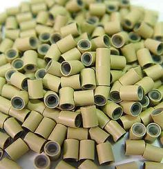 200 PCS 4mm Dark Blonde Color Copper Silicone Tube Micro Ring For I Bonded Tipped Human Hair Extension by Hair Extension Accessories. $2.00. Type: Copper Silicone-lined Micro Tubes/Rings. Color: Dark Blonde. Material: Copper & Silicone. Size: Outside Diameter: 4mm, Inner Diameter: 3mm, Length: 4 mm. Quantity: 200 pcs. The new Copper Silicone-lined micro rings are fabricated with copper metal. Interior of the ring is gentle on the hair with its protective, cushioned silicone lin...