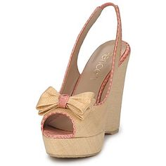 High Heels, Wedges, How To Wear, Shoes, Fashion, Cute Wedges Shoes, Totes, Queen Bees, Brown Beige