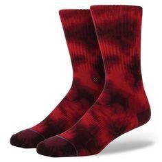 Stance   Burnout Wine Black, Red socks   Buy at the Official website Main Website.