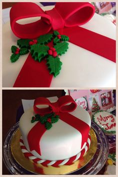 Awesome Christmas Cake Decorating Ideas from a simple traditional fruit cake to a Christmas cake to enjoy a festival holiday traditionally made. Christmas Cake Designs, Christmas Cake Decorations, Christmas Cupcakes, Christmas Sweets, Holiday Cakes, Christmas Cooking, Christmas Goodies, Xmas Cakes, Simple Christmas