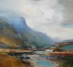 Passing Rain. Lake District. Oil on board 56x61 cm. David Atkins