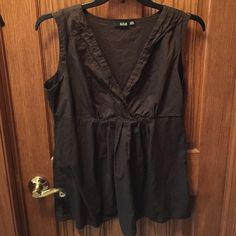 A.n.a. Top A.n.a. Top, brown, from JCPenney. Washed, but never ended up wearing it, great condition, see photos. a.n.a Tops Tank Tops