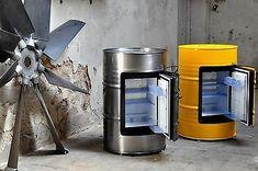 200 Litre Barrel Mini Bar Party Cooler Dometic HiPro 3000 Hotel gastronomic choice of colour Barrel Furniture, Metal Furniture, Mini Bars, Diy Home Crafts, Diy Home Decor, Drum Seat, Jerry Can Mini Bar, Car Part Art, Oil Barrel