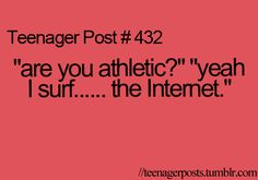 ¡¡¡¡You soy muy atlética!!!! No really, if that counts then I'm really athletic.