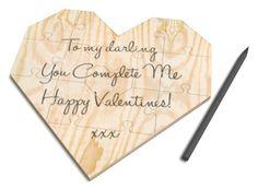 Du vollendest mich - Herzpuzzlekarte  http://www.geschenkidee.de/du-vollendest-mich-herzpuzzlekarte.html