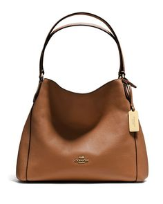 35f83777bb44 COACH Edie Shoulder Bag 31 in Refined Pebble Leather COACH - Bloomingdale s