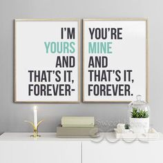 Love Quote Canvas Art Print Painting Poster, Wall Pictures For Home Decoration,  Wall Decor FA086,  set of 2