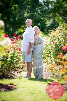 Flower Rose Garden Spring Maternity Photo Session © Sara Ashley- Eugene, Oregon portrait photographer. www.sashleyphoto.com