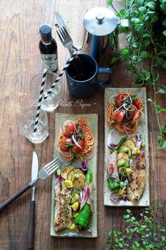 お家フレンチ気分♪パスタとポワレのワンプレート。   あ~るママオフィシャルブログ「毎日がお弁当日和♪」Powered by Ameba