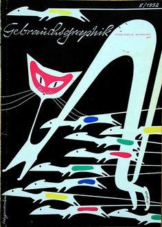 """""""Gebrauchsgraphik - International Advertising Art""""    issue 8/1952"""
