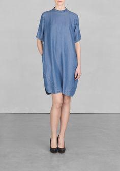 Denim-look dress
