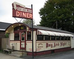 Day and Night Diner in Palmer, Massachusetts; built by the Worcester Lunch Car Company in 1944