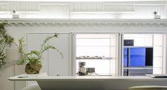 Dettagli di rifiniture realizzate per Scic Cucine Italia - Via Durini, Milano #design #cucine #rifiniture #gesso #arredamento www.bragliacontract.com