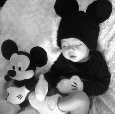 Cute Mickey outfit for baby boy photo