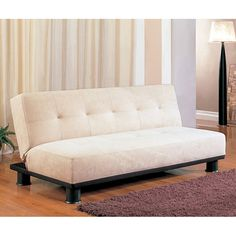 Contemporary Armless Sofa Bed (Beige)   71W (2)    219