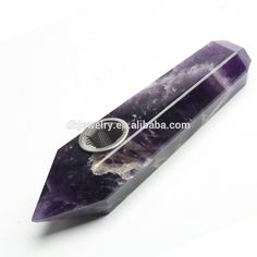 Natural Dream Amethyst Crystal Pipe Smoke Tobacco Smoking Pipe 8-10cm Length wholesale