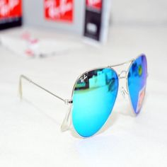 ray ban blue mirror silver frame