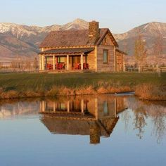 Just a little small log home with a river or pond nearby and my horse I'm the backyard! This is how I wanna live!