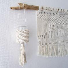 Photophore en Macramé www.keidue.com . #photophore #deco #macrame #décoration #salon #chambre #salledebain #ethnique #tendance #lifestyle #interieur #maison #home
