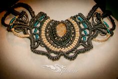 Decorative necklace with stone by Splatane on Etsy, €47.00