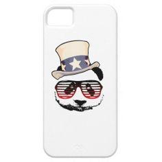 Patriotic panda iPhone 5/5S case