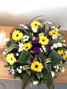 Posy arrangement, funeral tribute