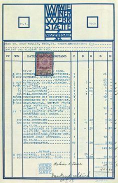 Form Design Done Right — Billhead forWiener Werkstätte, 1909.