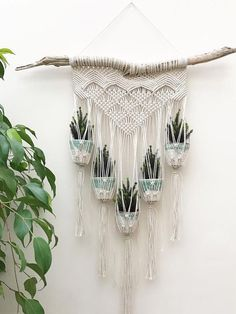HOME-DZINE   Craft Projects - Macramé has evolved from being a crafty way to make your own plant hangers, into a way to use rope and twine to craft a variety of home accessories.