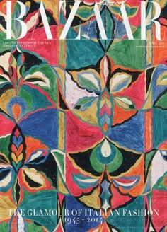 PUCCI - Harper's Bazaar UK - 'Limited Edition for the V&A' - vintage Emilio Pucci print. 'The Glamour of Italian Fashion 1945 - April Pattern Art, Pattern Design, Print Design, Art Vintage, Vintage Prints, Emilio Pucci, Cover Art, Textures Patterns, Print Patterns