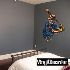 Baseball Wall Decal - Vinyl Sticker - Car Sticker - Die Cut Sticker - CDScolor144