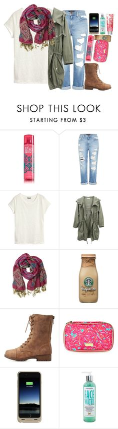 """""""slouch scarf"""" by harknessl on Polyvore featuring Genetic Denim, H&M, Overland Sheepskin Co., Bamboo, Lilly Pulitzer, Mophie, Moyana Corigan, modern, women's clothing and women's fashion"""