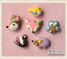 forest friends collection by jelly beads, via Flickr