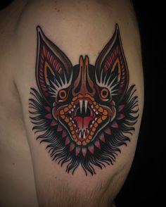 Javier Betancourt #bat #tattoo #ochoplacas #miami #javierbetancourt