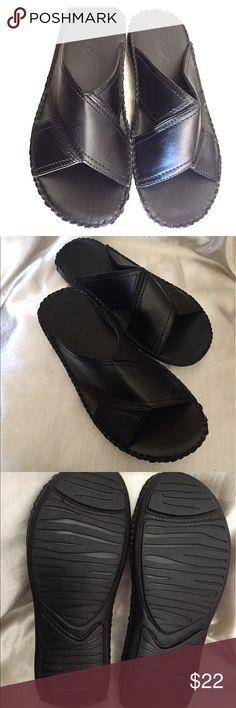 GBX Black New  men's slide sandal Size 7.5 GBX Black  men's sandals New without box size 7.5 size excellent condition GBX Shoes Sandals & Flip-Flops