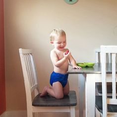 Its breakfast time with and It's already 21 degrees here in kamloops so is hanging out in diapers all day. Breakfast Time, Diapers, Hanging Out, In This Moment, Gallery, Instagram, Diaper Liners, Baby Burp Rags
