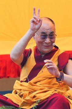 Peace from HH Dalai Lama I love this goofy man!