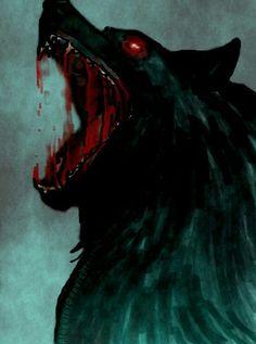 Fenrir the wolf of Norse mythology and vikings learn this - Anime Wolf Dark Fantasy Art, Dark Art, Anime Wolf, Fenrir Tattoo, Art Noir, Werewolf Art, Arte Obscura, Vampires And Werewolves, Arte Horror