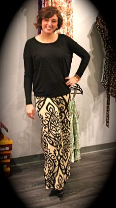 Candlestick print Palazzo pants - $32 Black top - $12 Call 317-889-1150 or email jen@jendaisy.com to order!
